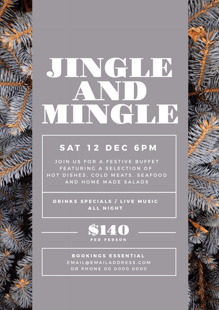 Jingle and Mingle Christmas Event Template