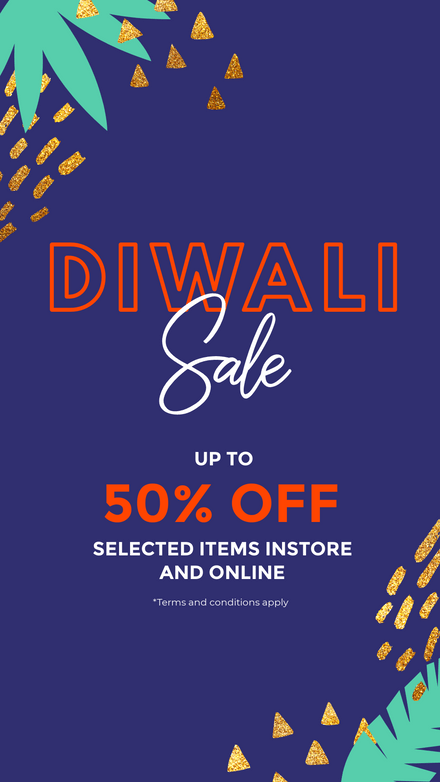 Diwali - Retail Sale Template with Gold Shape Detail