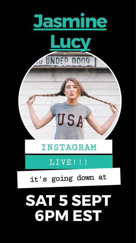 Instagram Live Announcement Template with circle image dropzone