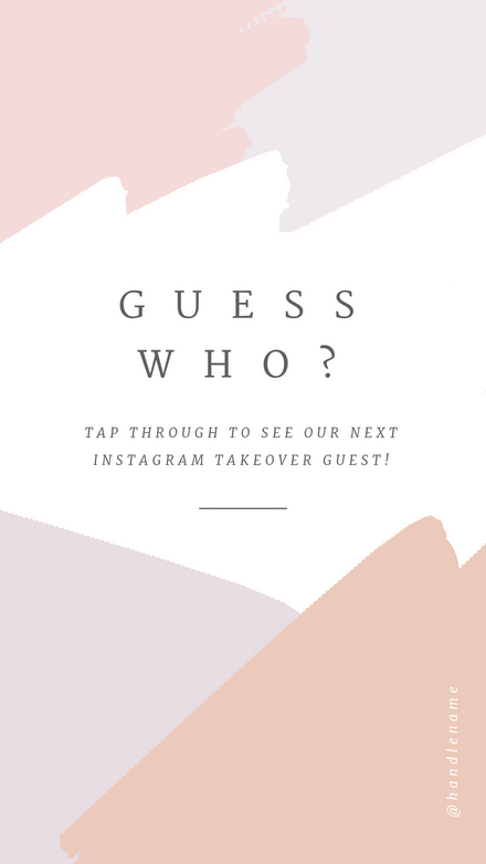 Tap to Reveal - Instagram Takeover