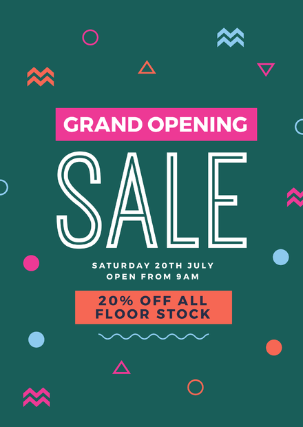 grand opening sale retail graphic template easil