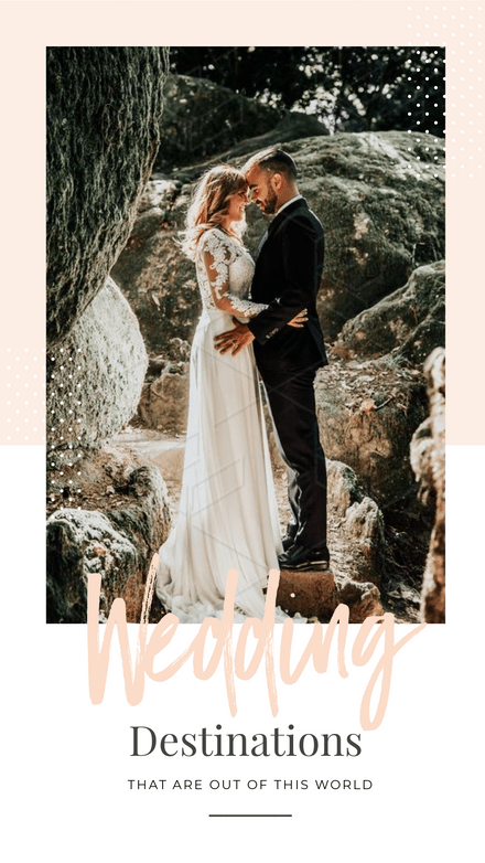 Wedding Destinations - Pastel & Dots Template