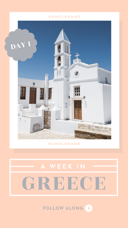 A Week in Greece Instagram Story Template (5 Pages)