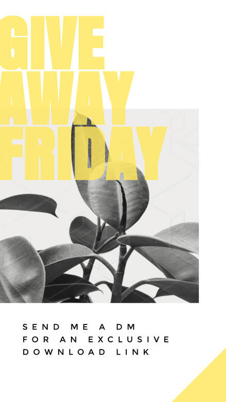 Giveaway Friday Direct Message Template