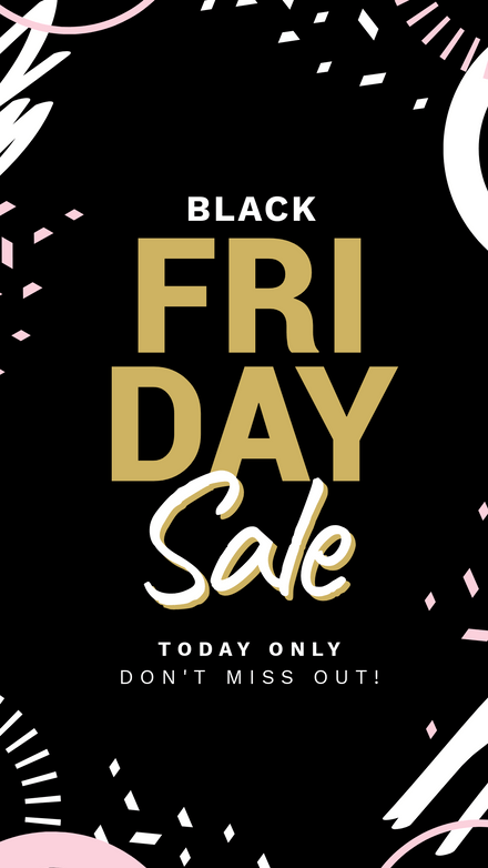 Black Friday Black & Pink Scribble Template