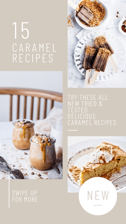 Caramel Recipes Template