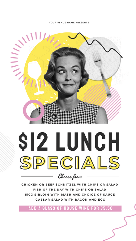 Lunch Specials - Vintage Series Template