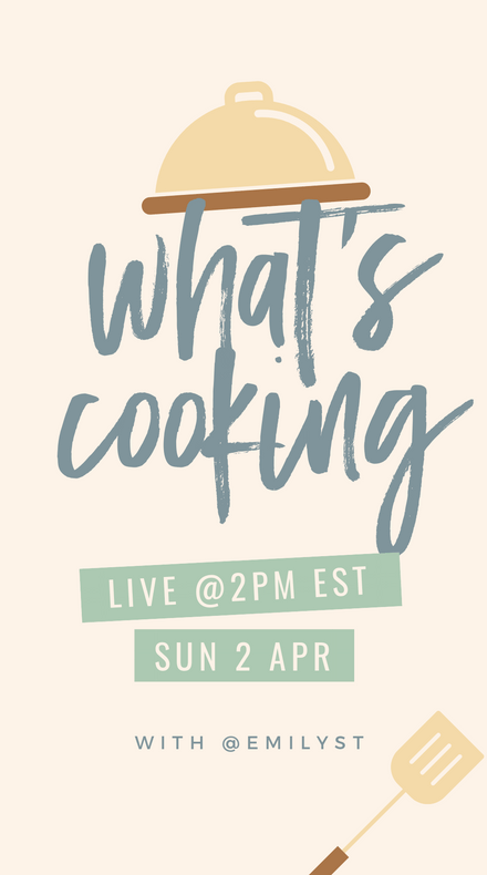 What's Cooking Instagram Story Template