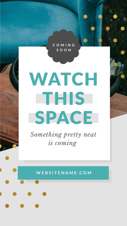 Watch this Space - Announcement Template Graphic
