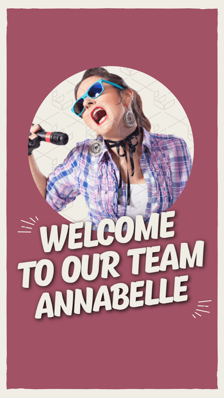 Welcome to the Team Instagram Stories Template