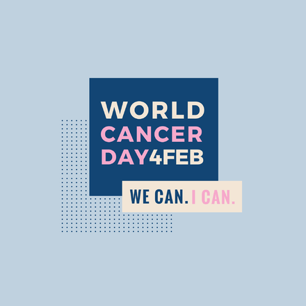 World Cancer Day Simple Graphic Template