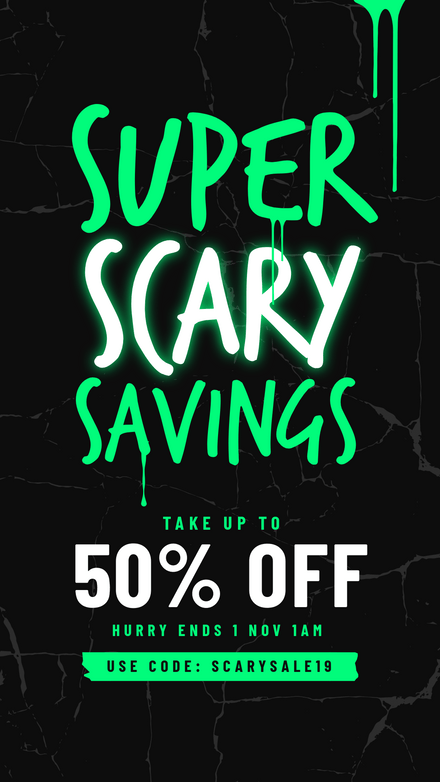 Super Scary Savings - Halloween Sale Graphic Template