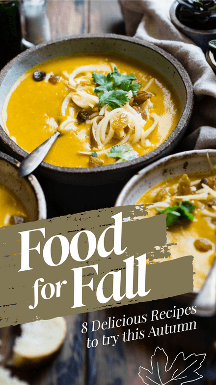 Food for Fall Recipe Graphic Template