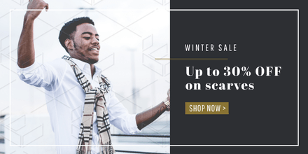 Up to 30% off scarves