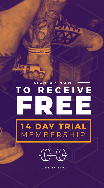Sign up to receive Free Gym Trial Template