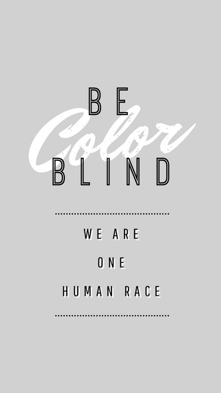 Be color blind Graphic Template