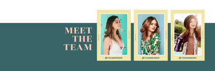 Meet the Team - 3 Photo Layout