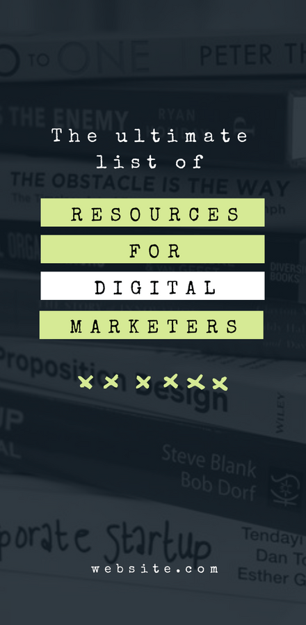 Ultimate List of Resources - Blog Promotion Graphic Template