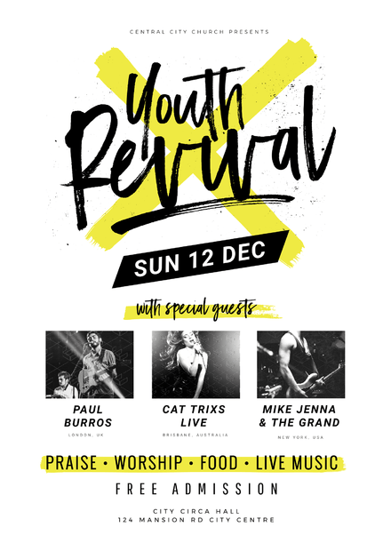 Youth Revival Church Event Template