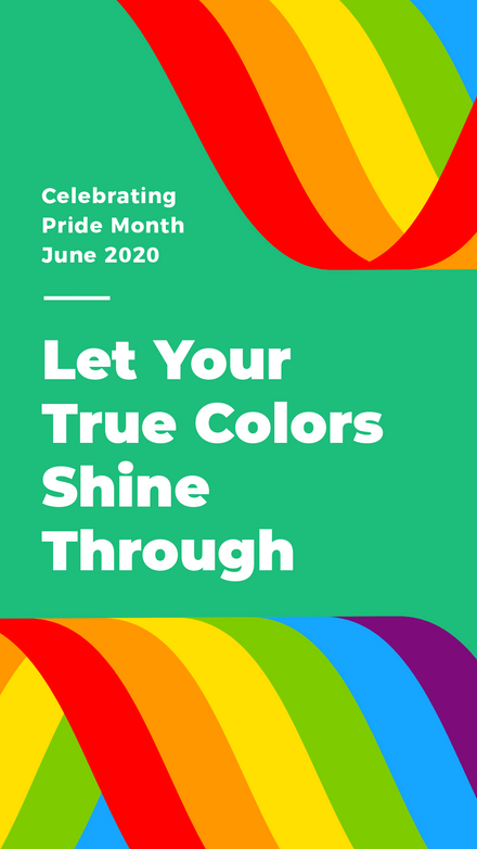 Let your true colors shine through - Pride Ribbon Template