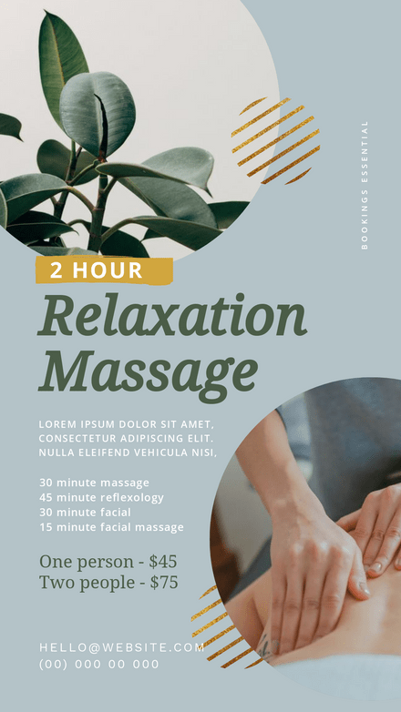 Relaxation Massage/ Beauty Therapy Template