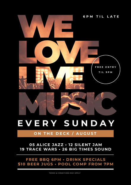 We Love Live Music Template with Text Mask