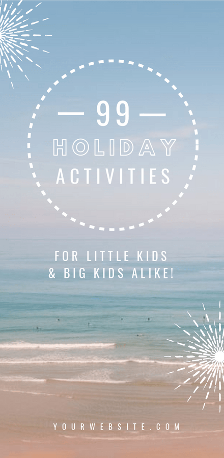 Holiday Activities for Kids - Blog Promotion Graphic Template