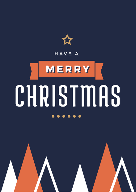 Have a Merry Christmas Christmas Template with Triangle Xmas tree graphics