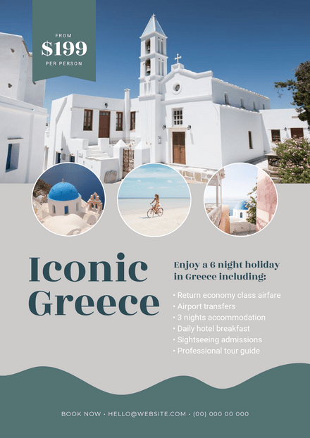 Iconic Greece Vacation / Travel Agent Template