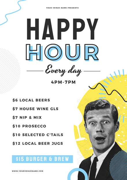 Happy Hour Vintage & Illustrated Template