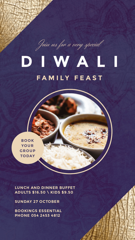 Very Special Diwali Feast Template