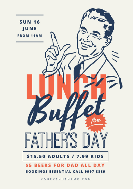 Father's Day Vintage Style Lunch Buffet