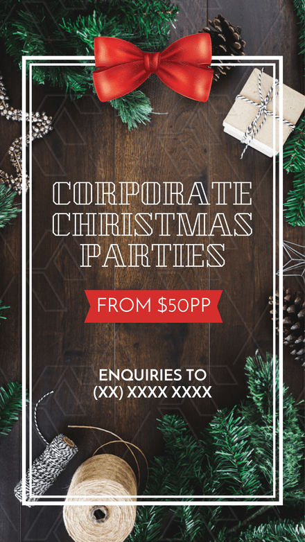 Corporate Christmas Parties Promotion Templates