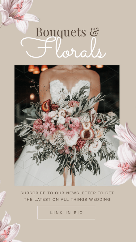 Wedding Florals Beige & Floral Template