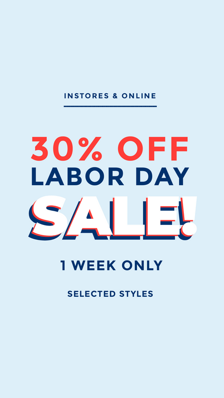 Labor Day Sale Stacked Light Blue