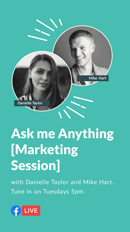 Ask Me Anything Facebook Live Template