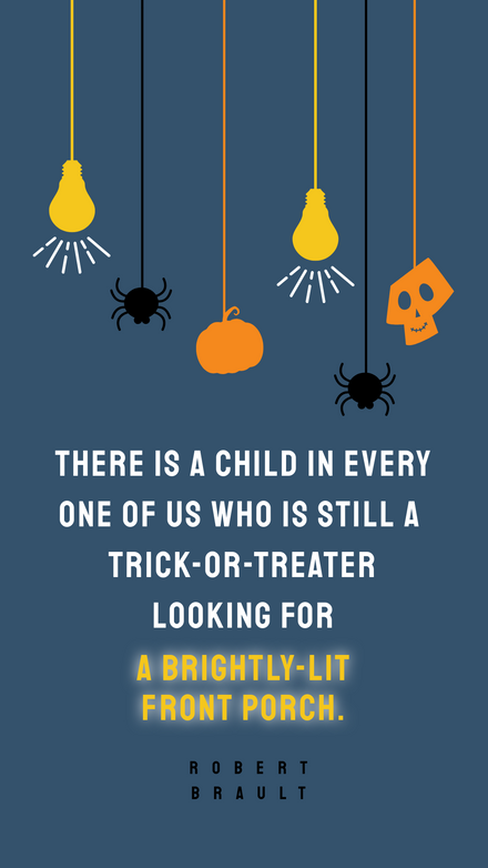 Halloween Quote with Spooky hanging elements
