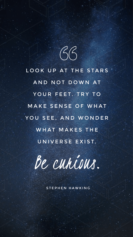 Quote Graphic Layout with Starry Night Background