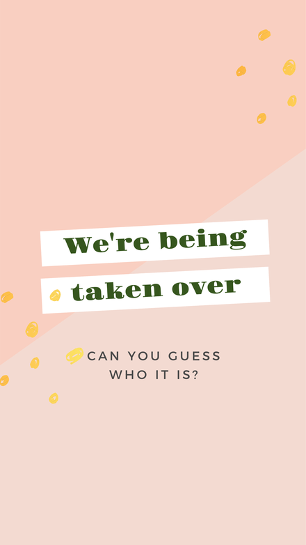We're being taken over! Pastel peach and green modern Instagram Story Template