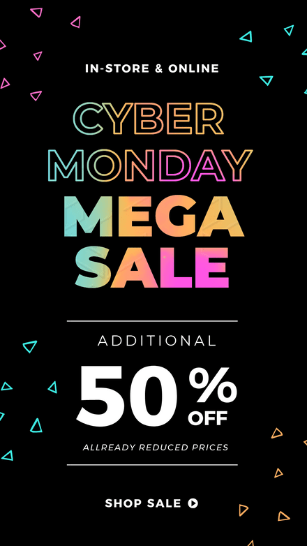 Cyber Monday Gradient Text Design
