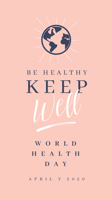 Be Healthy - World Health Day Template