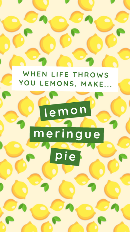 National Lemon Meringue Pie Day – 15th Aug