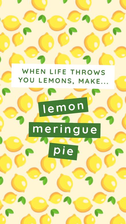 National Lemon Meringue Pie Day – 15th Aug