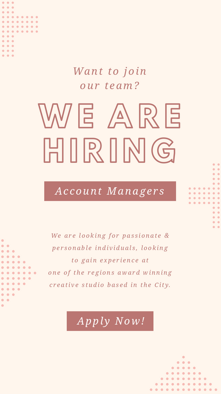 Pink Spotted Shapes - We are hiring