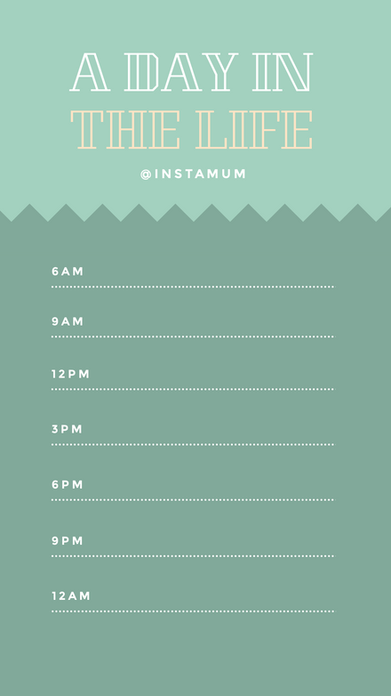 A day in the Life - Instagram Diary Template