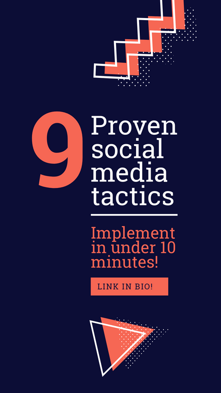 9 Proven Social Media Tactics Graphic Template
