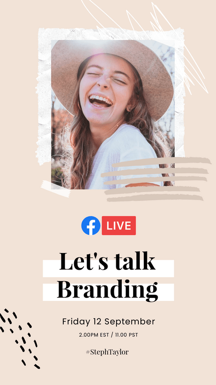 Let's Talk Branding Facebook Live Announcement