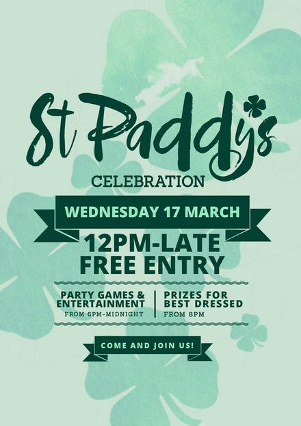 St Patrick's Party