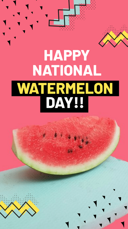National Watermelon Day Template