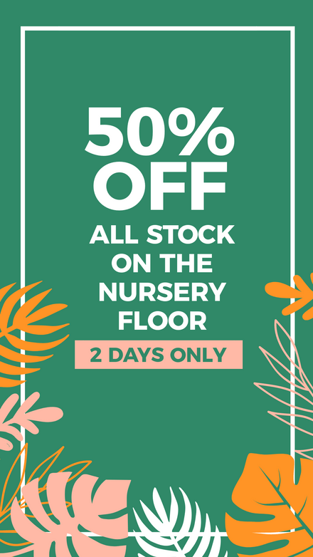 Green & Floral Sale Sign Announcement